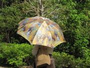 傘をさした女性発見